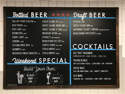 Bar Menu board
